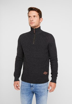 PKTHNN ZIP HIGH NECK - Strikkegenser - asphalt