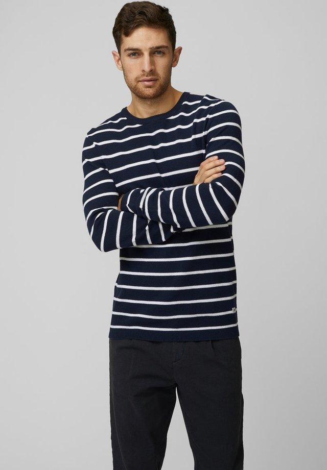 STREIFEN - Sweter - navy blazer
