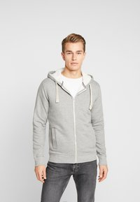 Produkt - PKTGMS TED HOOD - veste en sweat zippée - light grey melange - 0