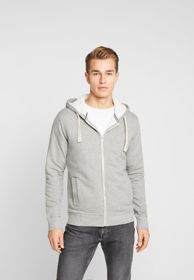 PKTGMS TED HOOD - Zip-up hoodie - light grey melange