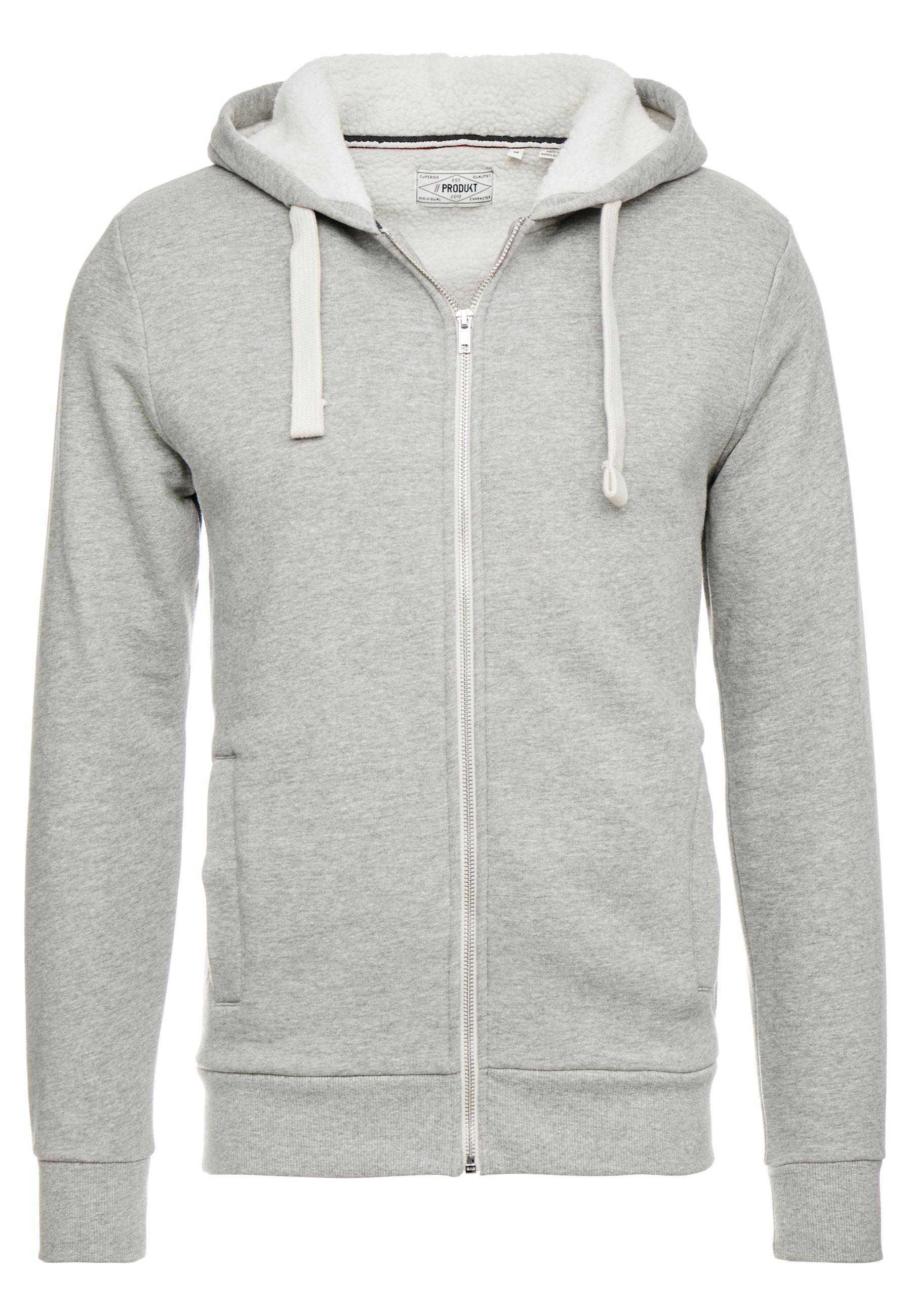 Produkt Pktgms Ted Hood - Veste En Sweat Zippée Light Grey Melange