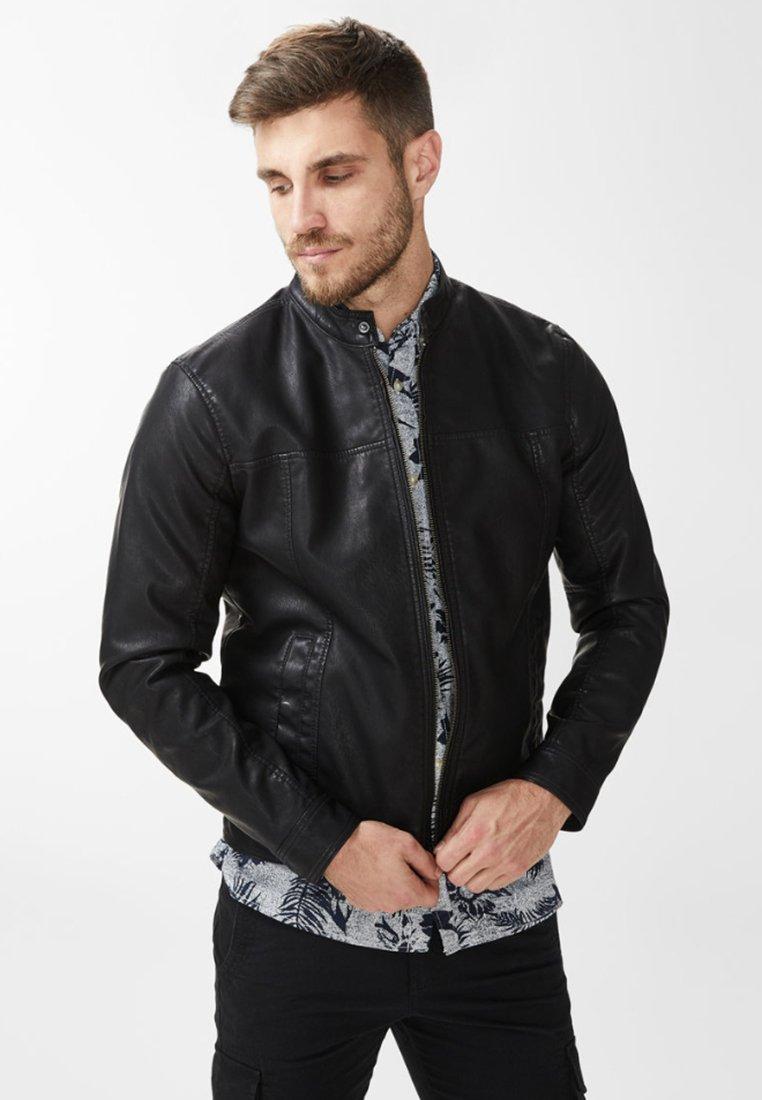 Produkt - Imitatieleren jas - black