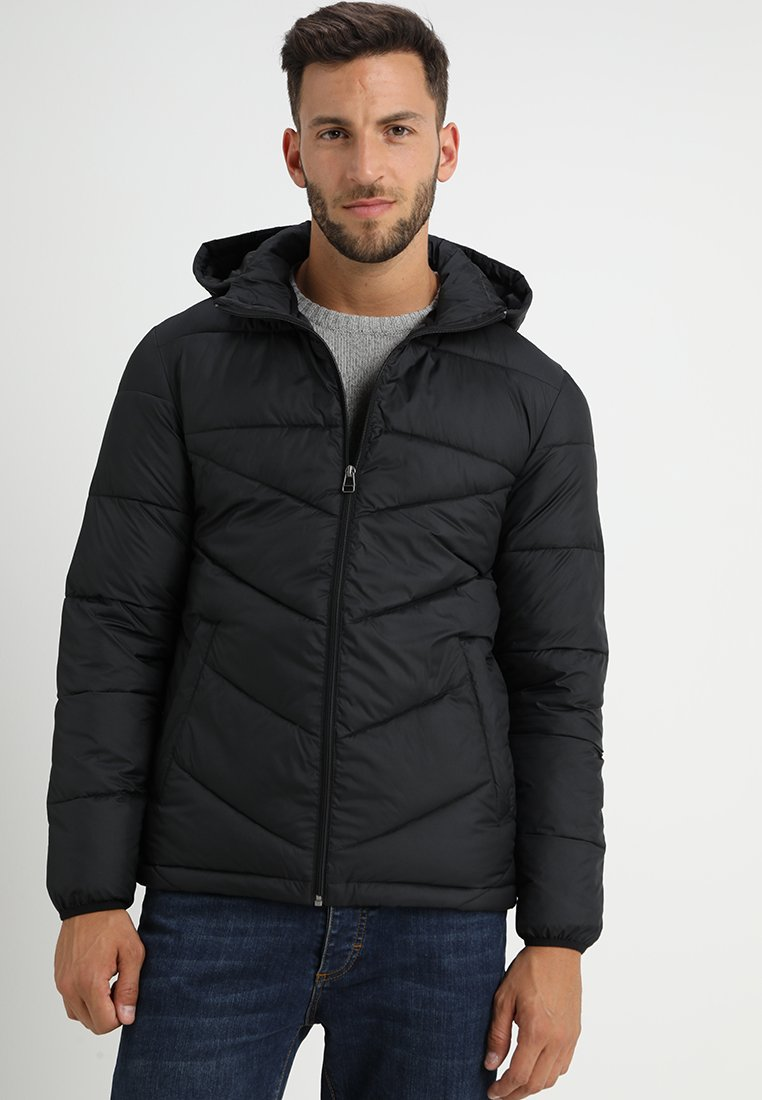 Produkt - VENCENT PUFFER HOOD - Vinterjakker - black