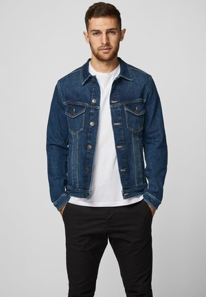 JEANSJACKE BAUMWOLL - Denim jacket - dark denim