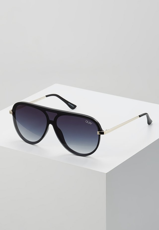 EMPIRE - Lunettes de soleil - matte black/gold-coloured/smoke fade
