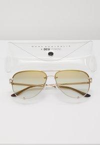 QUAY AUSTRALIA - HIGH KEY MINI RIMLESS - Sunglasses - gold-coloured/brown - 3