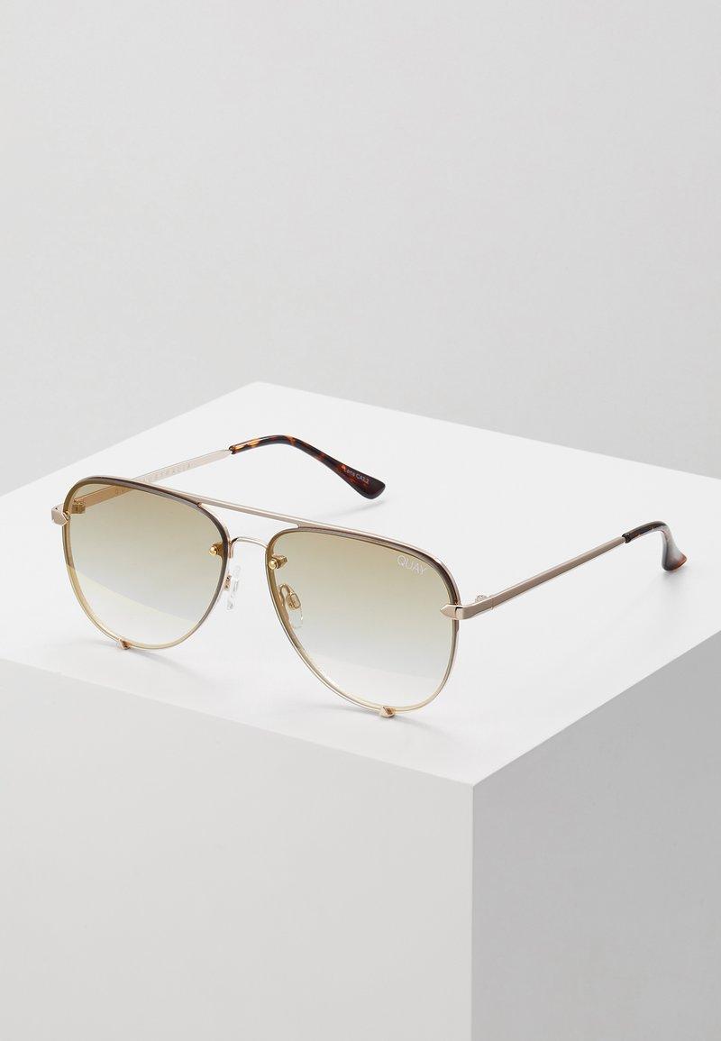 QUAY AUSTRALIA - HIGH KEY MINI RIMLESS - Sunglasses - gold-coloured/brown