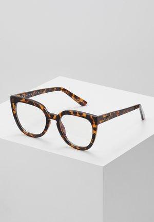 NOOSA BLUE LIGHT - Sluneční brýle - mottled brown/transparent