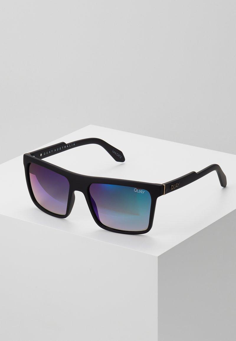 QUAY AUSTRALIA - LET IT RUN - Sunglasses - matte black/navy