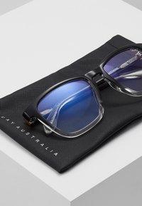 QUAY AUSTRALIA - HARDWIRE  BLUE LIGHT - Sonnenbrille - black/transparent - 2