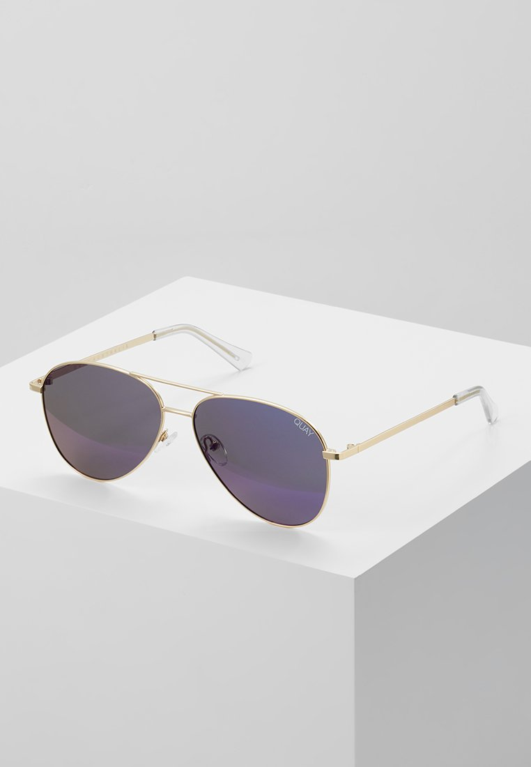 QUAY AUSTRALIA - STILL STANDING - Sunglasses - matte gold-coloured/blue revo