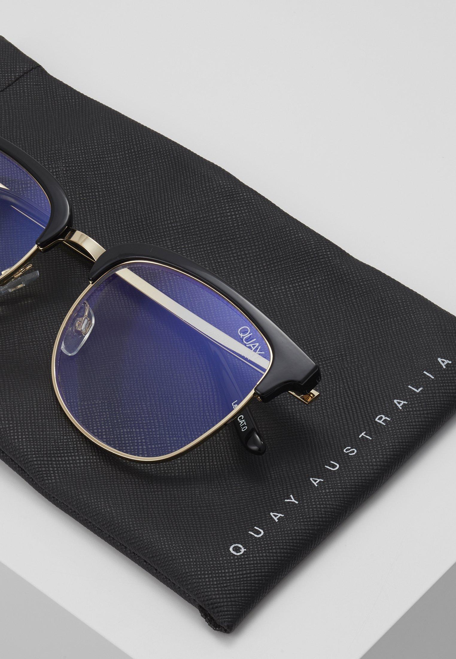 QUAY AUSTRALIA EVASIVE BLUE LIGHT - Sonnenbrille - black