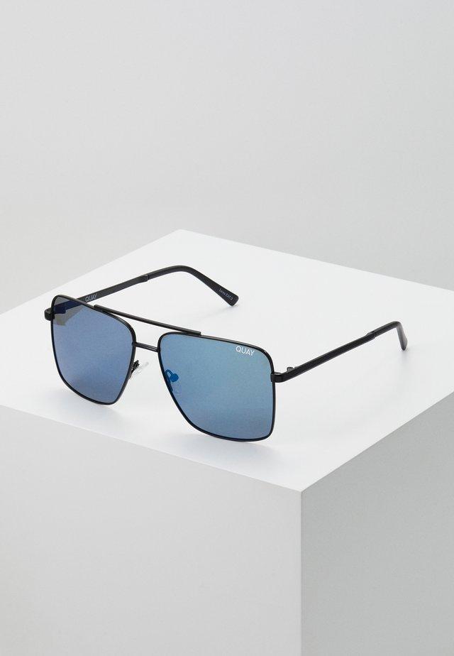 AIR CONTROL - Sunglasses - matte black/blue