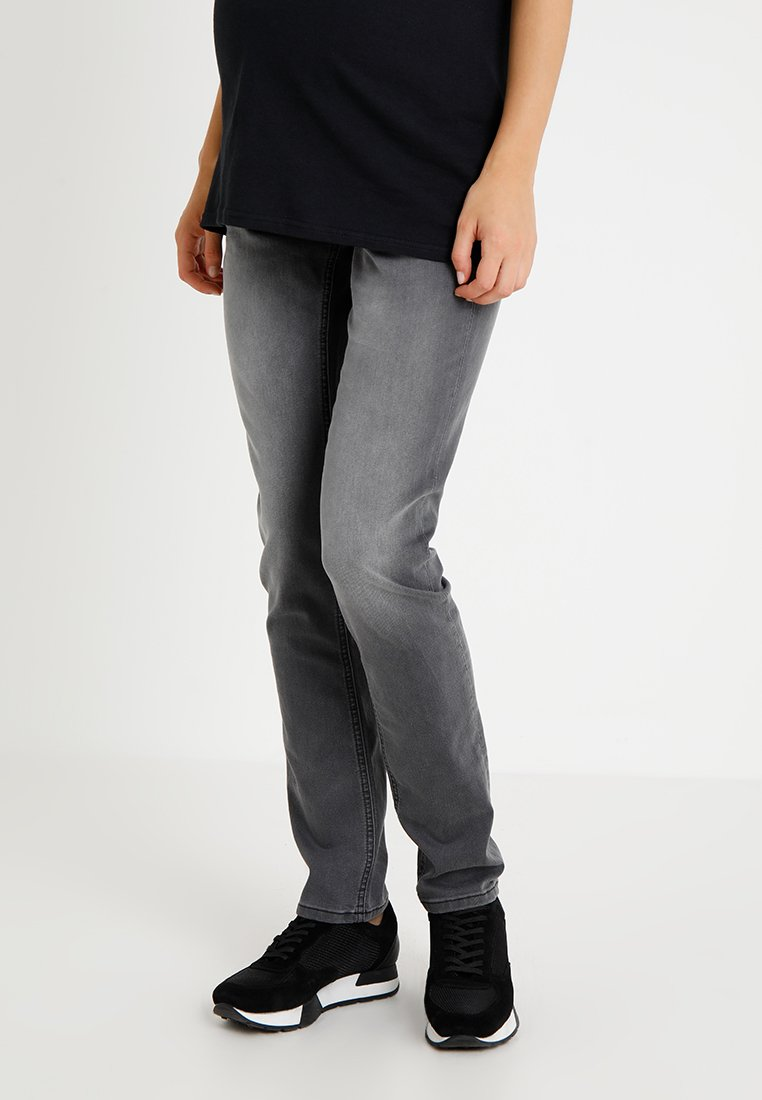 Queen Mum - NALA STRAIGHTFIT - Jeans Straight Leg - dark grey