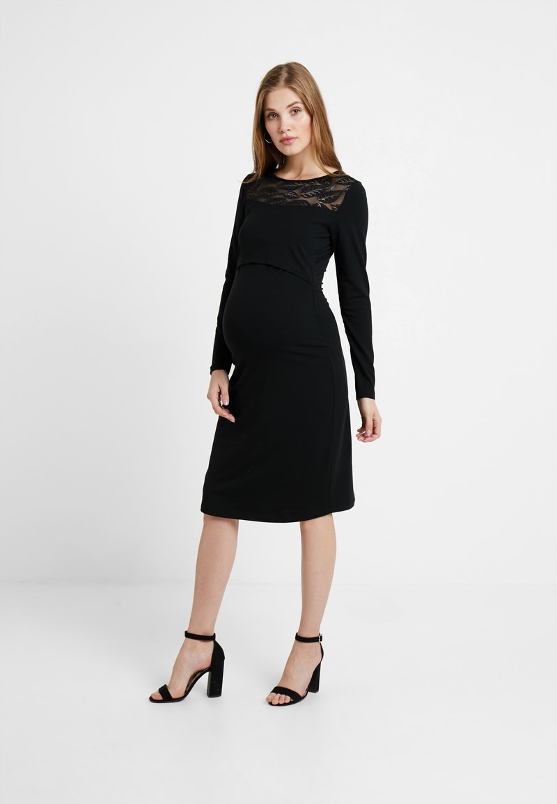 Queen Mum - DRESS NURSING  - Vestito di maglina - black
