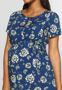 Queen Mum - DRESS WOVEN NURS BEIGING - Robe d'été - sodalite blue - 3