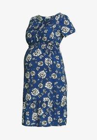 Queen Mum - DRESS WOVEN NURS BEIGING - Robe d'été - sodalite blue - 4