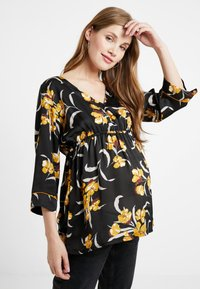 Queen Mum - BLOUSE 3/4 - Camicetta - black