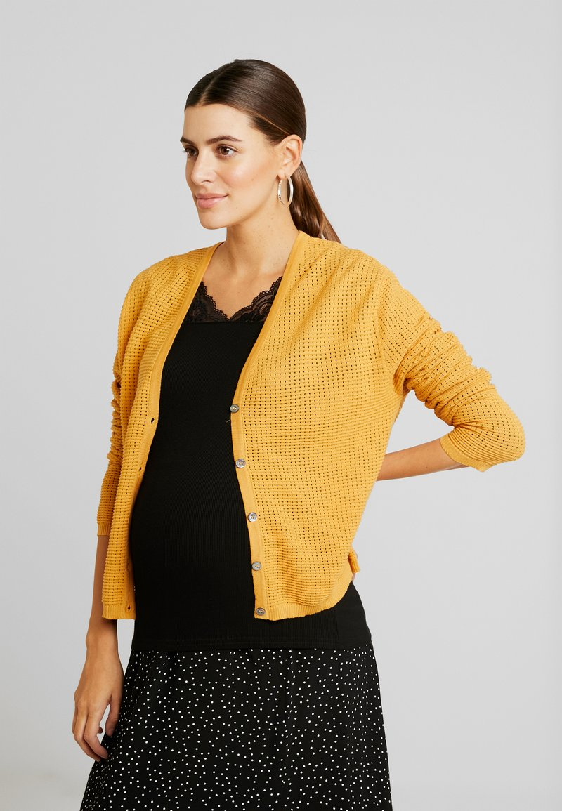 Queen Mum - CARDIGAN HELSINKI - Vest - sunflower