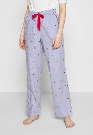 STRIP PANT REGULAR - Pyjamasbukse - blue