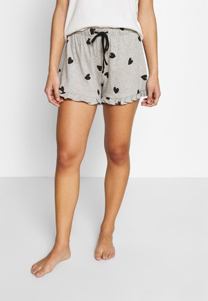 HEART SHORT - Pyjamasbukse - grey