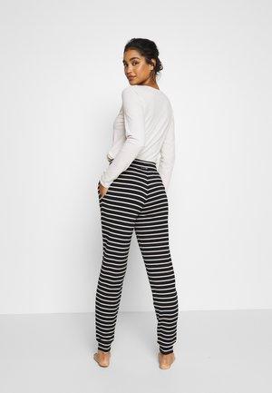 FLEXI STRIPE PANT REGULAR - Pyjamabroek - black/white