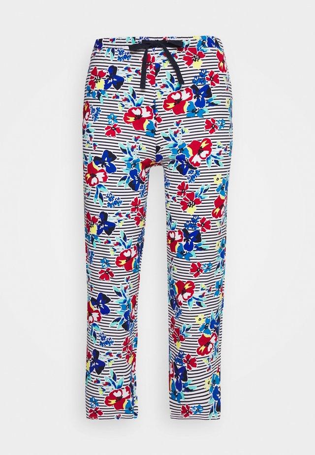 PANT CROP FLOR PANT - Pyjamasbyxor - indigo mix