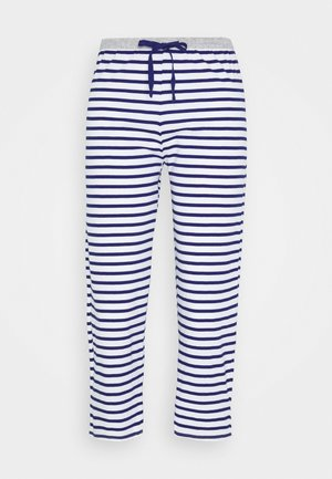 PANT CROP PANT - Pyjamabroek - dark blue/white