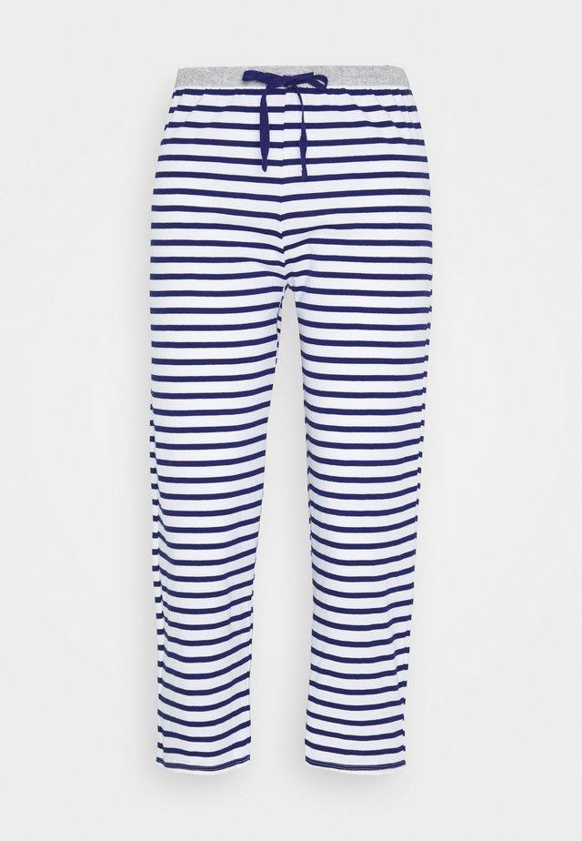 PANT CROP PANT - Pyjama bottoms - dark blue/white