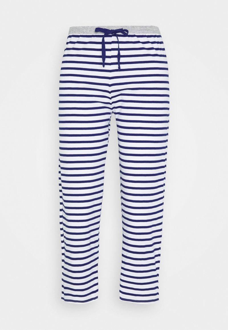 Marks & Spencer London - PANT CROP PANT - Pyjamasbukse - dark blue/white