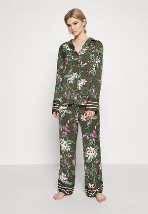 REVERE SET - Pyjama - khaki/multi-coloured