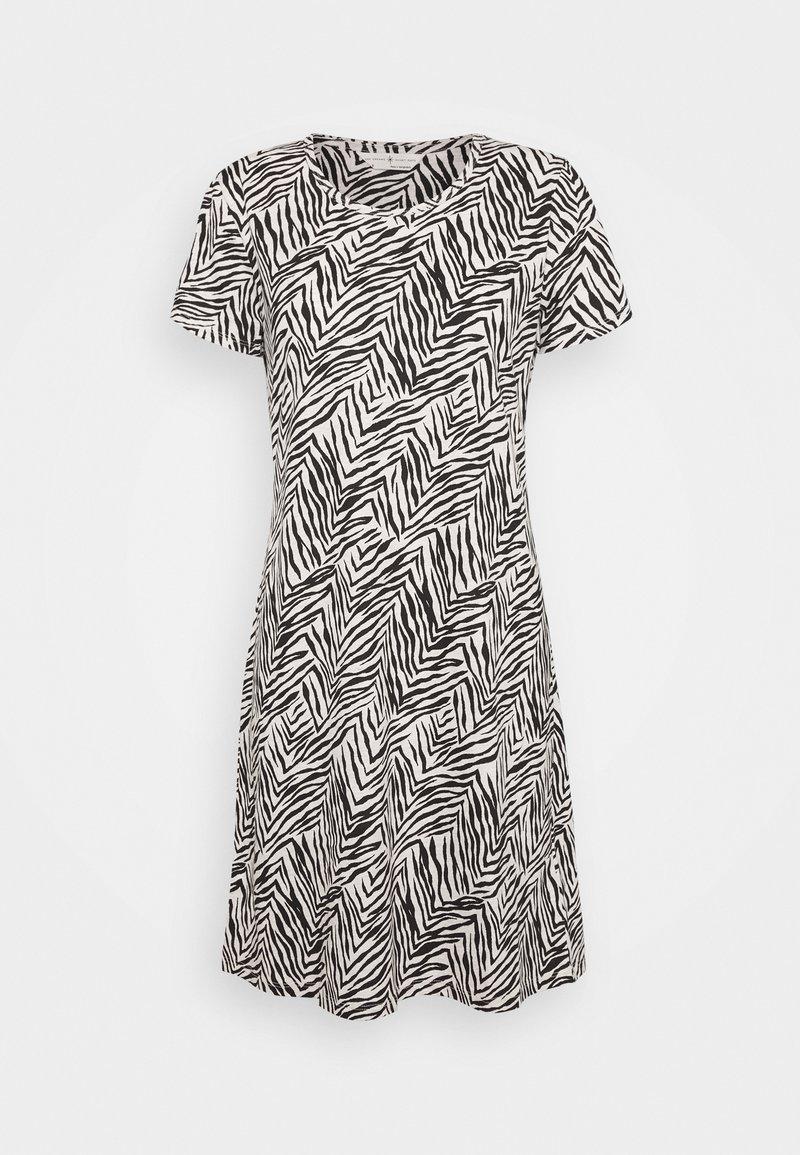Marks & Spencer London - MINISHIRT ZEBRA - Noční košile - oatmeal