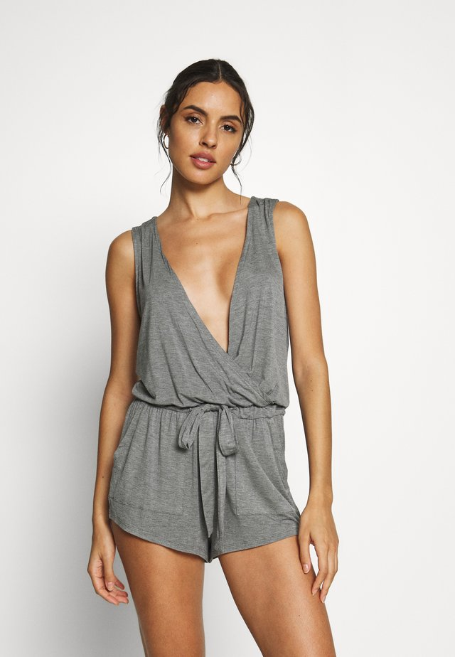 HANGING LOUNGE PLAYSUIT - Pyjamas - charcoal