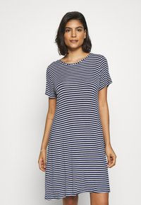 Marks & Spencer London - MINISHIRT STRIPE - Nightie - navy mix - 0