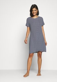 Marks & Spencer London - MINISHIRT STRIPE - Nightie - navy mix - 1