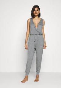 Marks & Spencer London - HANGING LOUNGE JUMPSUIT - Pyjamas - charcoal - 0