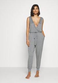 Marks & Spencer London - HANGING LOUNGE JUMPSUIT - Pyjamas - charcoal - 1