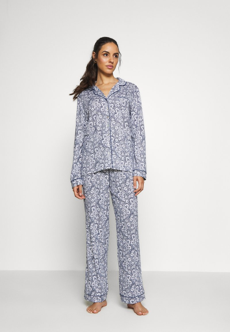Marks & Spencer London - HANGING FLORAL SET - Pyjamas - blue mix
