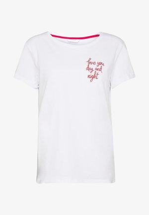 LOVE SLOGN - Pyjamasöverdel - white