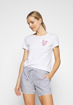 LOVE SLOGN - Pyžamový top - white