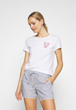 LOVE SLOGN - Pyjamashirt - white