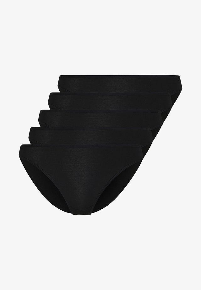 HIGH LEG 5 PACK - Briefs - black