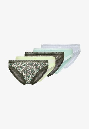 FLORAL 5 PACK - Slip - green mix