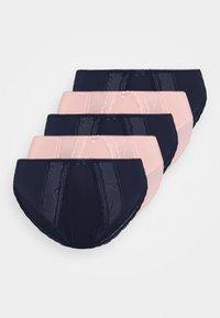 Marks & Spencer London - EBROIDERED 5 PACK - Underbukse - blush/navy - 4