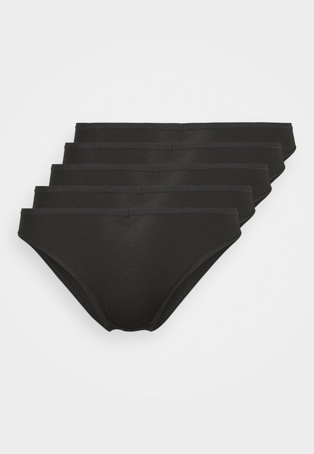 KNICKER 5 PACKS - Underbukse - black