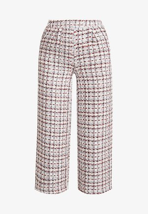 CROPPED WIDE LEG - Spodnie materiałowe - multi