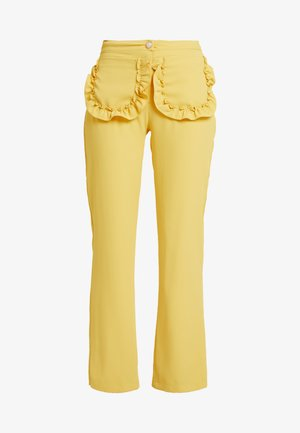 CITRUS PATCH POCKET TROUSERS - Pantalon classique - yellow
