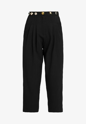 BACK TRACK PLEAT TROUSERS - Trousers - black