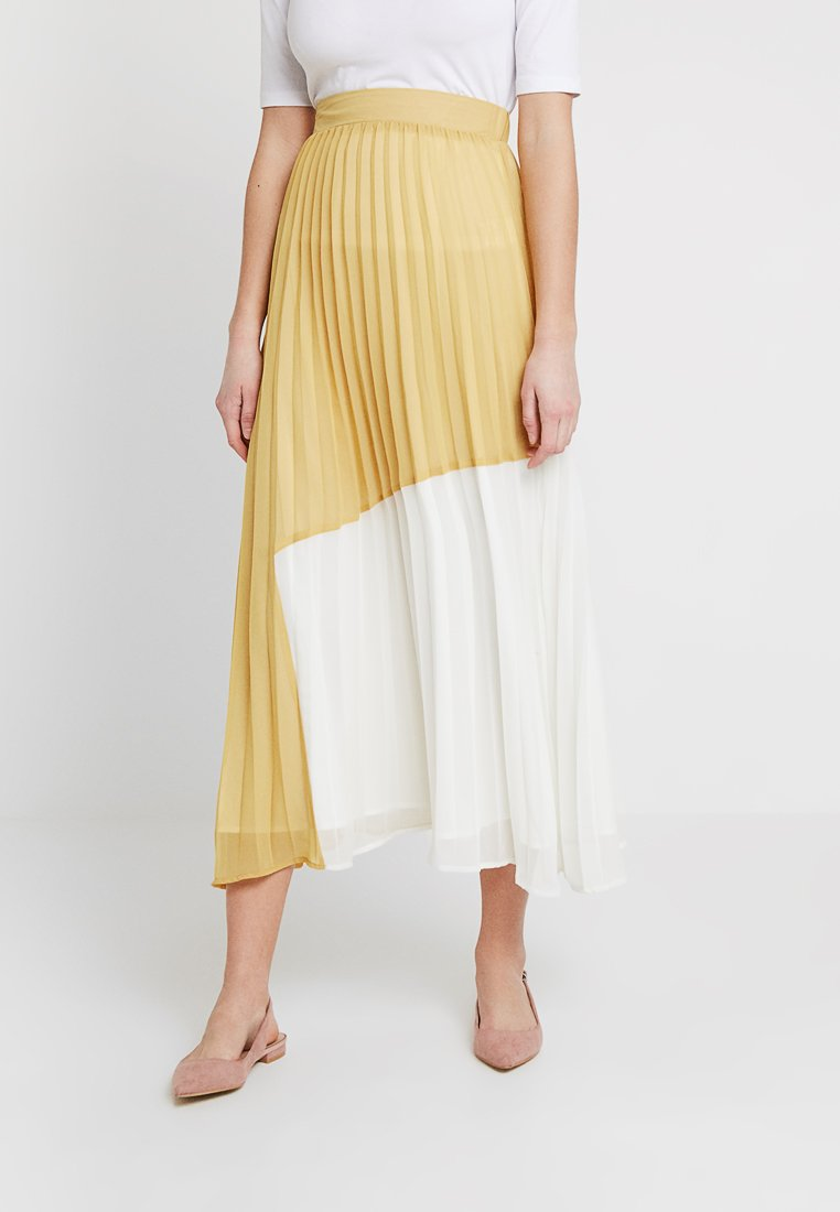 Sister Jane - COLOUR BLOCK PLEATED SKIRT - Pleated skirt - yellow