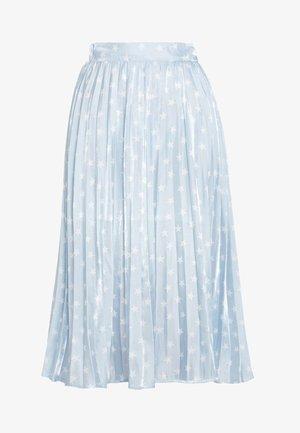 PLEATED SKIRT IN SHIMMER STAR - A-linjainen hame - light blue/white